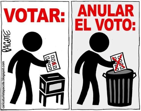 anular el voto